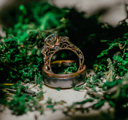 Luxury 18K Rose Gold Engagement Ring