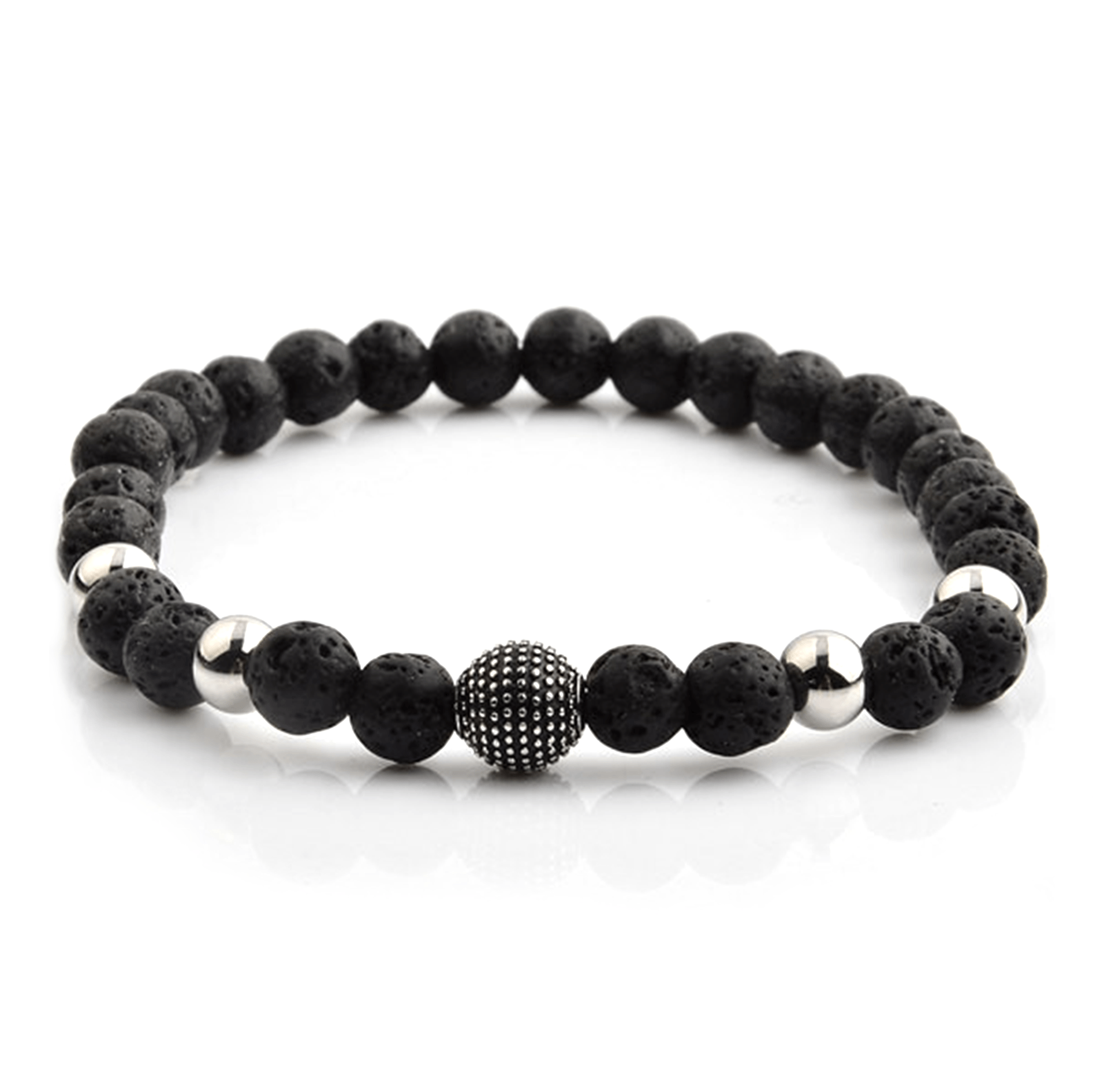 HYLIZO X Series 356 - Volcano Beaded bracelet with 316 Stainless Steel Spike ball
