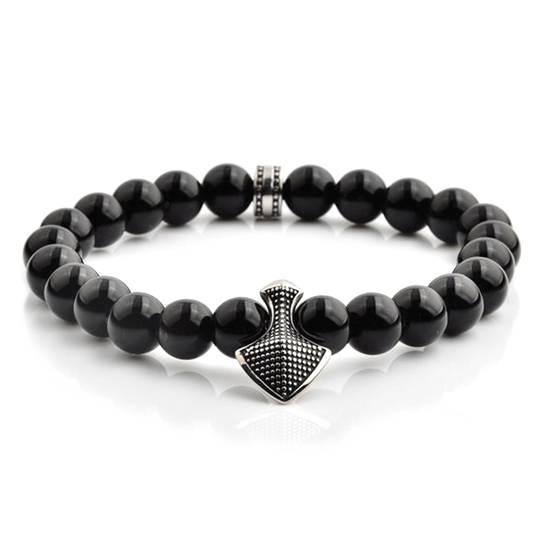 HYLIZO X Series 372 - Black Gloss Shield Edition bracelet with 316 Stainless Steel Shield
